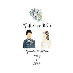 Cui Cui. sa-koさんはInstagramを利用しています:「Thanks Card 💓 も承っております☺︎ お花は当日花嫁さんが持つブーケを描いております💐 おめでとうございます🎈 過去の作品は #cuicui_illustboard でご覧いただけます #cuicui_wedding #welcomeboard…」 Wedding Invitation Inspiration, Wedding Invitation Cards, Wedding Cards, Wedding Motifs, Wedding Prints, Thanks Card Wedding, Buch Design, Japanese Wedding, Wedding Illustration