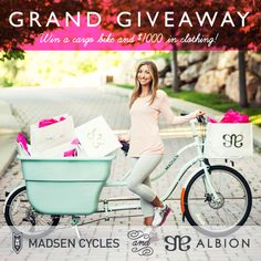 Bird's Party Blog: WIN $100 Gift Card from Albion + Your chance to win $1000 of Albion Gear and a $1500 Madsen Cycles bike!!! #albionfit