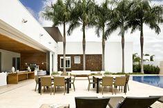 Casa Térrea: Terraços translation missing: br.style.terraços.moderno por Ana Paula e Sanderson Arquitetura
