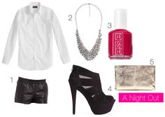 dress shirt dress up :: a night out