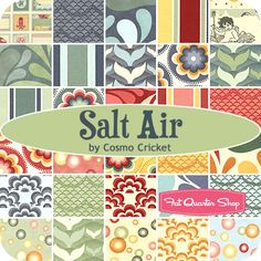 Salt Air Fat Quarter Bundle Cosmo Cricket for Moda Fabrics - Fat Quarter Shop    So in love with this whole line...