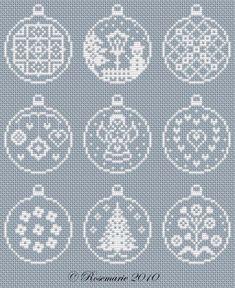 ru / foto # 63 - Véspera de Ano Novo e / freebies - Jozephina - Lmaoru / Jozephina - Album New Year Christmas ornamentLovely as tree decorations or cards Xmas Cross Stitch, Cross Stitch Charts, Cross Stitch Designs, Cross Stitching, Cross Stitch Embroidery, Embroidery Patterns, Cross Stitch Patterns, Machine Embroidery, Christmas Perler Beads