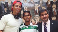 After surviving the 2004 tsunami that struck his native Indonesia, Martunis was found on the beach wearing a Portugal football jersey. The team then invited him to visit. He even met Cristiano Ronaldo.  Twelve years later, he's a footballer with Sporting Clube de Portugal.