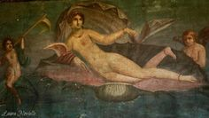 "Gorgeous ""Venus in the shell"" in Pompeii."