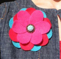feltorama-tutorial felt flower with template