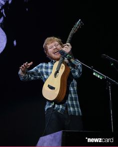 Recording artist Ed Sheeran performed onstage during Rock in Rio USA at the MGM Resorts Festival Grounds on May 15, 2015 in Las Vegas, Nevada.