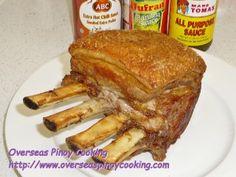 Pinoy Rack of Pork, Lechon Kawali Style