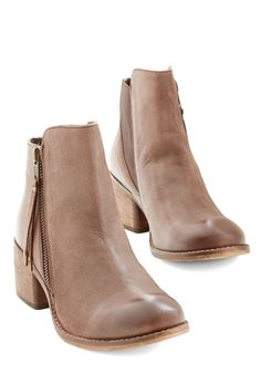 Elaborate Bootie. Why do we adore these cocoa-brown booties from Seychelles, you ask? #tan #modcloth