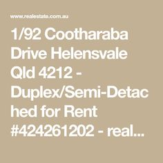 1/92 Cootharaba Drive Helensvale Qld 4212 - Duplex/Semi-Detached for Rent #424261202 - realestate.com.au