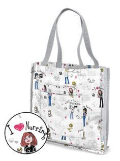 UA Pride And Passion White Tote Bag Style # UA949PNP  #uniformadvantage #uascrubs #adayinscrubs #bag #totebag