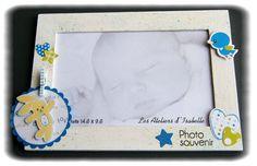 Cadeau naissance original, artisanal et unique !! Cadre miroir, cadre pour photo 10x15, carte et mini album.