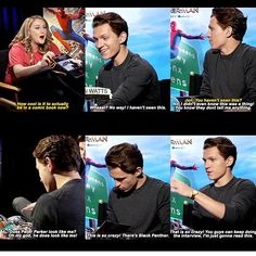 Tom Holland. That would probably be me if I got to play a superhero.