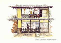 Cleve Walker Walkington, home of a plant fancier, Hiroshima Prefecture