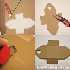 Birdhouse made of cardboard. Template and photo workshop / Скворечник из картона. Шаблон и фото мастер-класс (400x400)