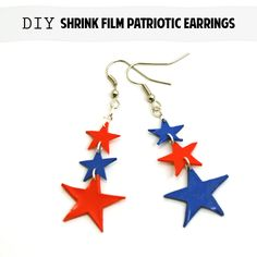 Patriotic Shrink Film Earrings