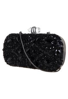 Bolsa Clutch Couro Victoria Preta - $563.36 | Dafiti