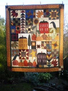 Happy Harvest Home-harvest, fall, patchwork, applique, pattern, quilt, new