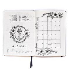 Image result for august minimal bullet journal