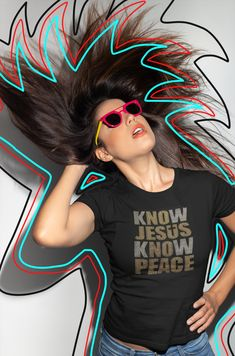 """Know Jesus, Know Peace"" Tee Christian Tees, Christian Clothing, Hunter Green, Peace, Shirts, Women, Dress Shirts, Sobriety, Shirt"