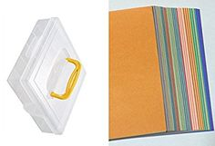 Origami Paper Case 6 14 x 6 14 and 40 Colors Origami Paper (120 Sheets)