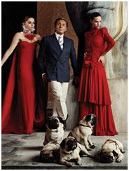 Who is more famous, Valentino or his Pugs?