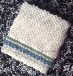 Diagonal Striped Crochet Heirloom Baby Boy by HookYarnAndHooper $84.99 #craftshout