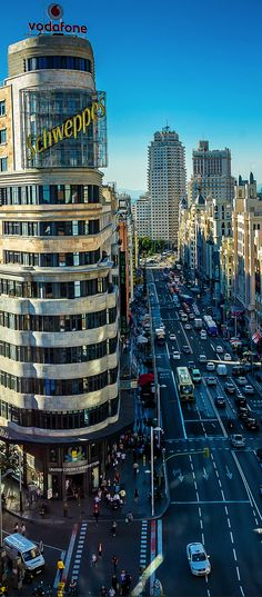Gran Via, Madrid, Spain Travel Around The World, Around The Worlds, Foto Madrid, Madrid Travel, Barcelona, Spain And Portugal, Spain Travel, Beautiful World, Wonders Of The World