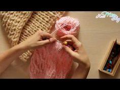 Вязание шапки спицами Как связать шапку - YouTube