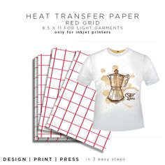 f6cb5fb0 Easy to Use Heat Transfer Paper Iron On For Light Garments  #TransferPaper#paper#