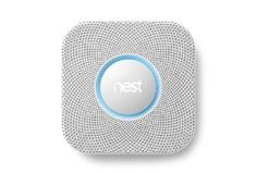 Nest Protect Smoke + Carbon Monoxide. A smart detector for this modern age. It will let you know when its batteries are low so you don't have to find out in the middle of the night. That is only one of its tricks.