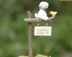 *new arrival* 1Pcs dog & bird signboard/fairy garden gnome/moss terrarium home decor/craft/bonsai/bottle garden/miniatures a045
