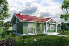 Панельно-каркасный дом. Проект H-24