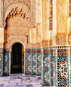Exploring Moroccan Architecture is one of the best things to do in Marrakech. Check the full guide to Marrakech. Architecture Exam, Architecture Wallpaper, Abandoned Castles, Abandoned Places, Abandoned Mansions, Mecca Kaaba, Morocco Travel, Marrakech Morocco, Moorish