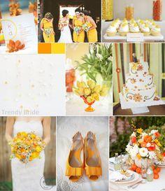 INSPIRAÇÃO: Casamento amarelo e laranja | Casar é um barato