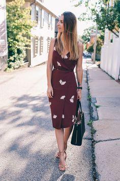 Ann Taylor tossed floral midi dress Jess Kirby