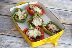 A Low Carb Philly Cheesesteak Option: Steak and Cheese Stuffed Peppers