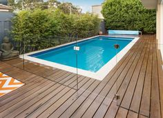 Buy Fully Frameless Channel Pool Fencing from Everton for a high-class seamless look that is fully integrated into your surface surroundings. Backyard Pool Designs, Small Backyard Pools, Small Pools, Swimming Pools Backyard, Swimming Pool Designs, Pool Landscaping, Glass Pool Fencing, Pool Fence, Glass Fence