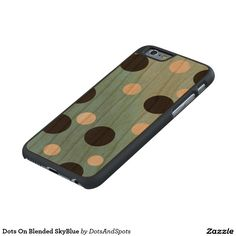 Dots On Blended SkyBlue Carved® Cherry iPhone 6 Case