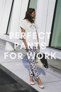 Perfect pants for work. Check out the latest options from Banana Republic