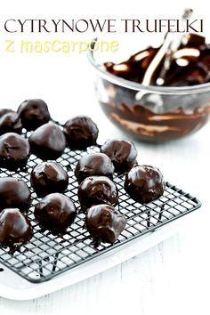 Cytrynowe trufelki z białej czekolady i mascarpone
