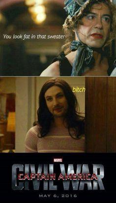 Oh Tony don't be Jealous Lol , Captain America civil war