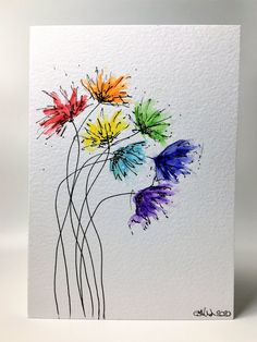 Discover recipes, home ideas, style inspiration and other ideas to try. Realistic Flower Drawing, Simple Flower Drawing, Easy Flower Drawings, Beautiful Flower Drawings, Unique Drawings, Easy Flower Painting, Drawing Flowers, Flower Art, Watercolor Artwork