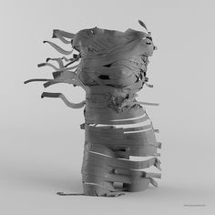 Clothing sculpture on Behance