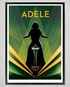 Adele performing at ''KeyArena', Seattle, WA (July, 25) poster
