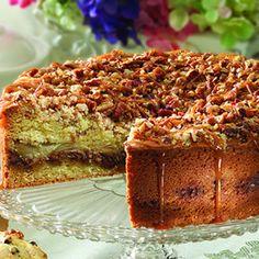 Crunchy Pecan-Apple Sour Cream Coffee Cake