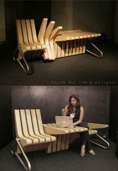 Clever fold over chair