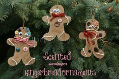 to try next year scented sandpaper gingerbread ornaments - happy hooligans - sensory craft Cute Art Projects, Christmas Art Projects, Toddler Art Projects, Christmas Crafts For Kids, Simple Christmas, Winter Christmas, Holiday Crafts, Christmas Ideas, Family Crafts