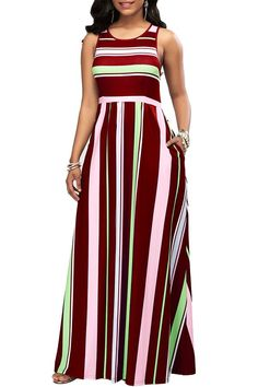 b82a7152228 Malluo Women s Casual Floor Length Beach Maxi Dresses with Pockets Cold