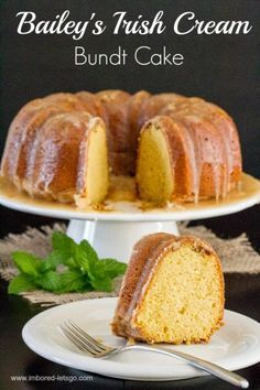 Baileys Irish Cream Bundt Cake | Absolutely delicious. It's very easy to make, and tremendously impressive. Next time, I will stir the pecans throughout the batter and I will ice it in two sittings so I don't end up with a pool in the center.