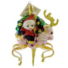 Larry Fraga Cupid Glass Ornament